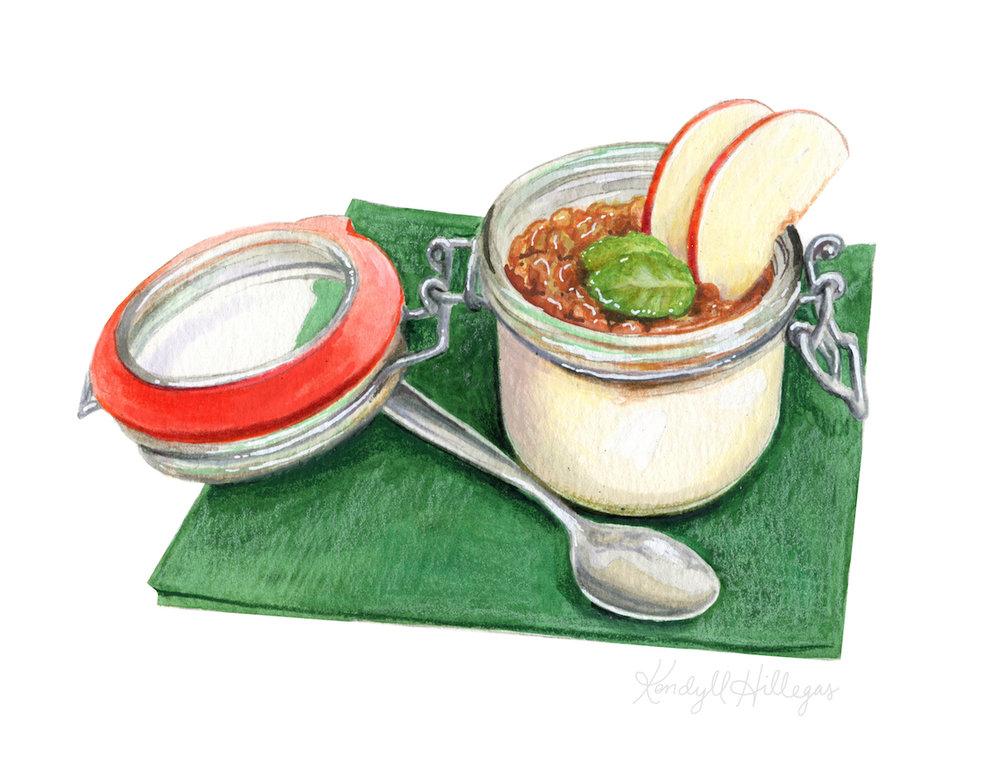 Yogurt Parfait Illustration