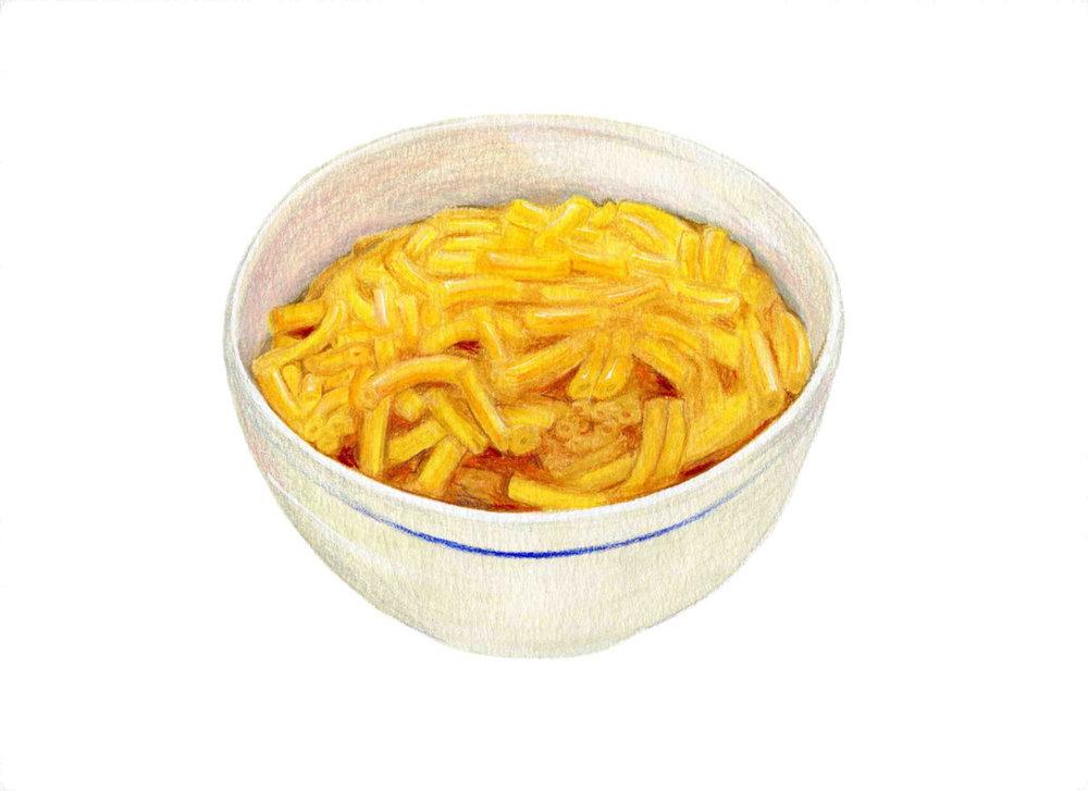 Macaroni & Cheese Illustration