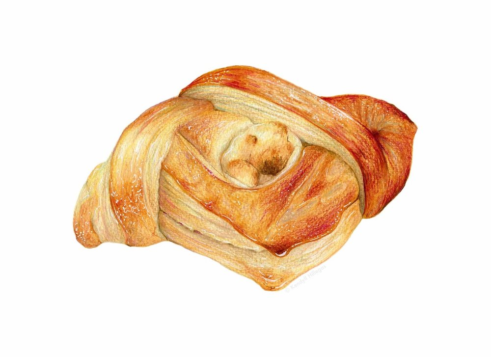 Cheese Danish Illustration