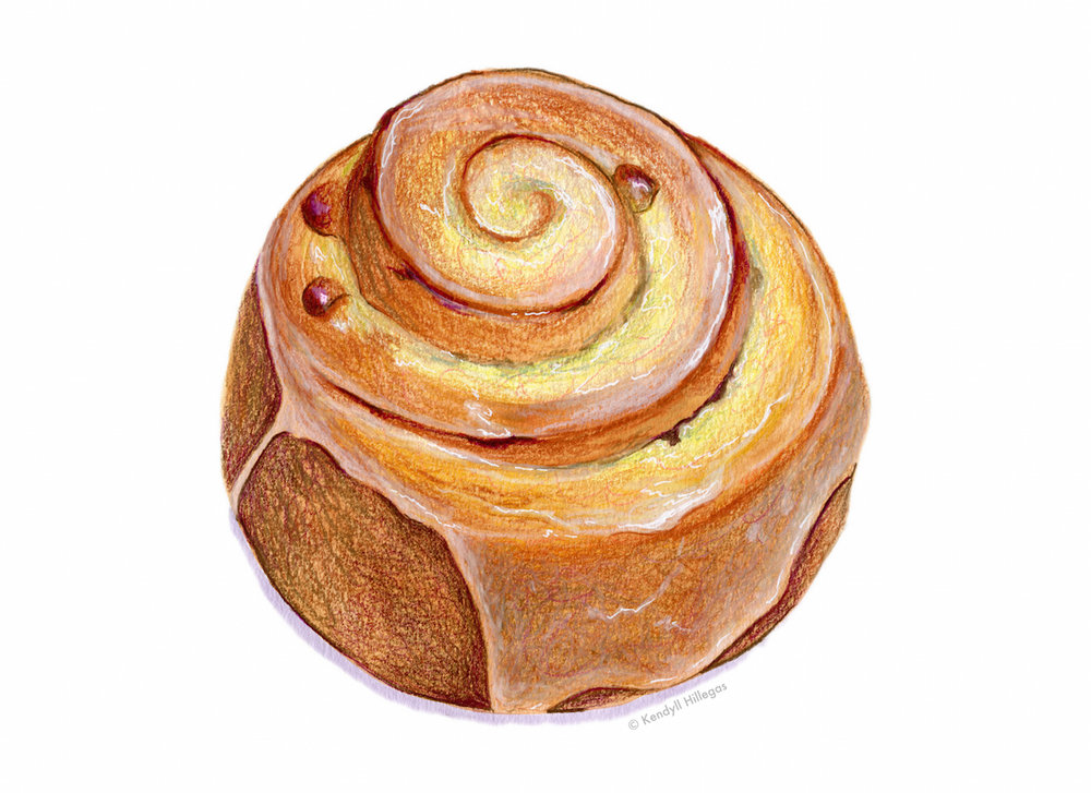 Pain au Raisin Illustration
