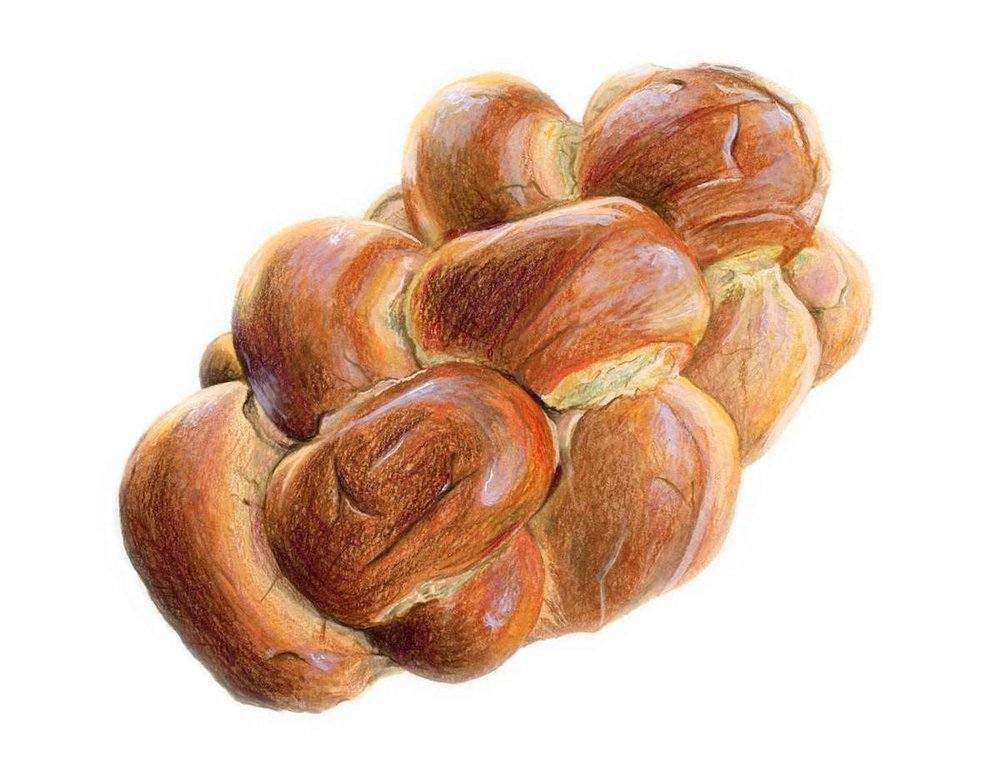 Challah Bread Illustration