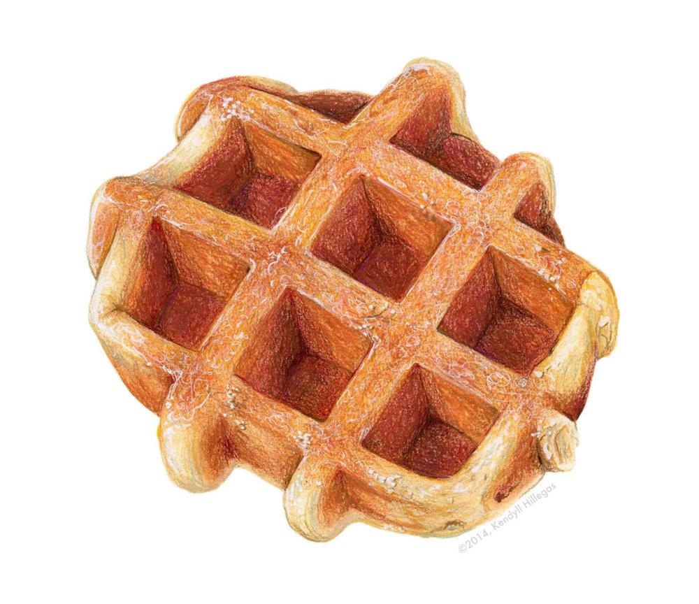 Belgian Waffle Illustration