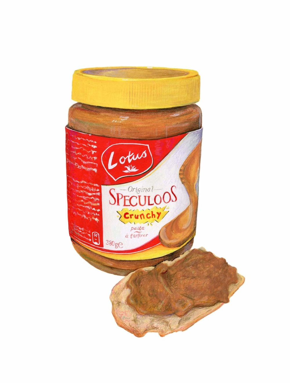 Speculoos Cookie Butter Illustration