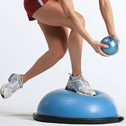 Balance exercises on BOSU, for example.
