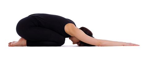 This position is great to open up the SI joints and relax the muscles in your low back.