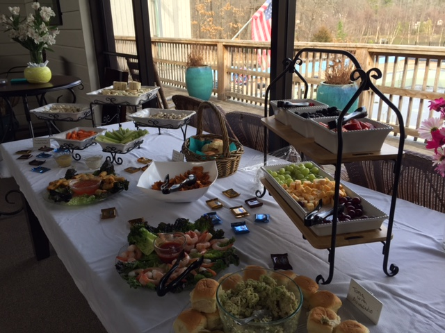 Stacey prepared quite a spread for the Ladies' League luncheon today.