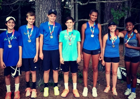 Congratulations to Raintree 14Adv for finishing second at the USTA Junior Team Tennis Sectional Tournament at Burkwood.  Way to represent!!