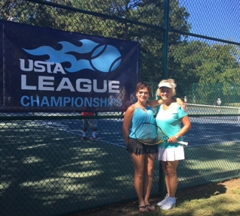 Raintree members Susan Evans and Mary Loud Hayden receive Sportsmanship awards at Sectionals 9/22/2017. Congratulations!