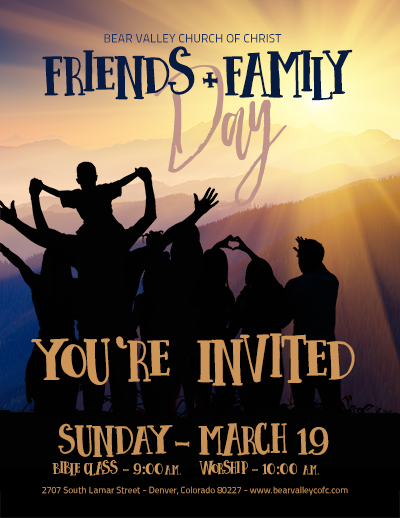 friends and family day bear valley church of christ