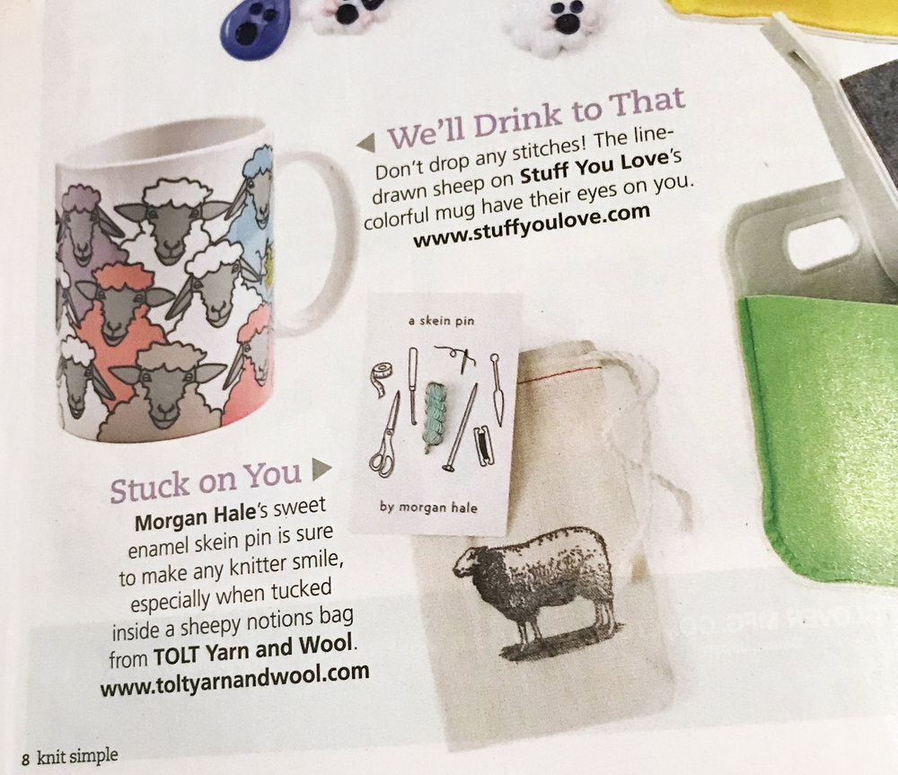 Featured in the Spring / Summer 2018 issue of Knit Simple ~ click to purchase the issue!