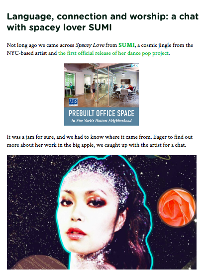 SUMI talked about songwriting process about Spacey Love. Read more here. -