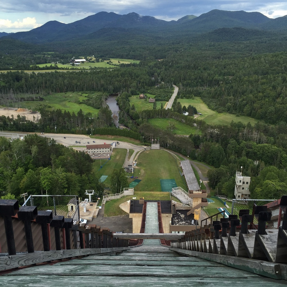 Walking around the village of Lake Placid and the Olympic Ski Jump