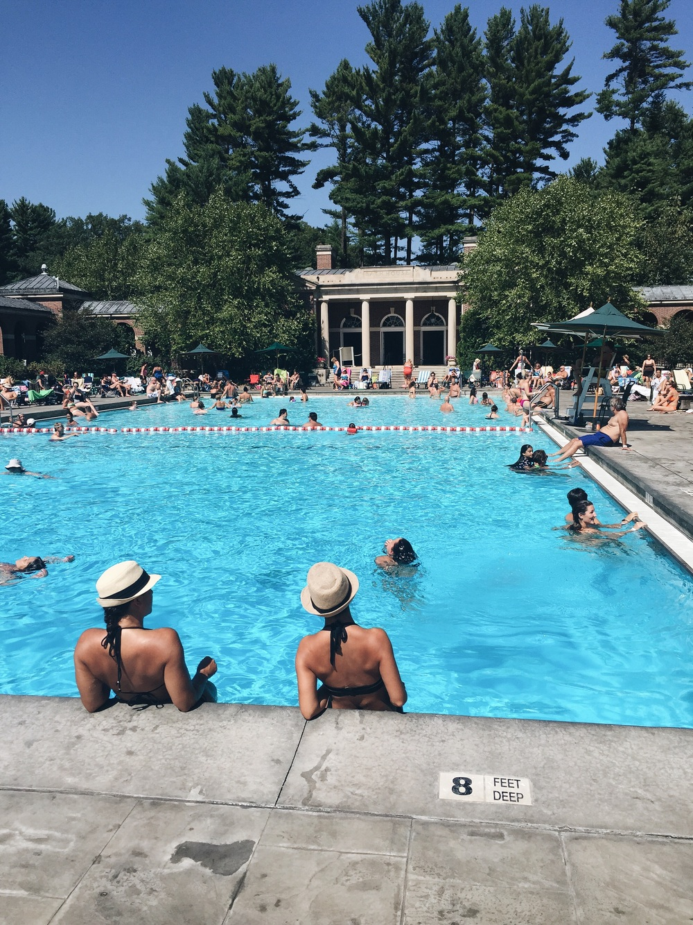 The Victoria Pool at Saratoga Springs State Park is gorgeous and spring-fed! It felt amazing to dive and swim laps.