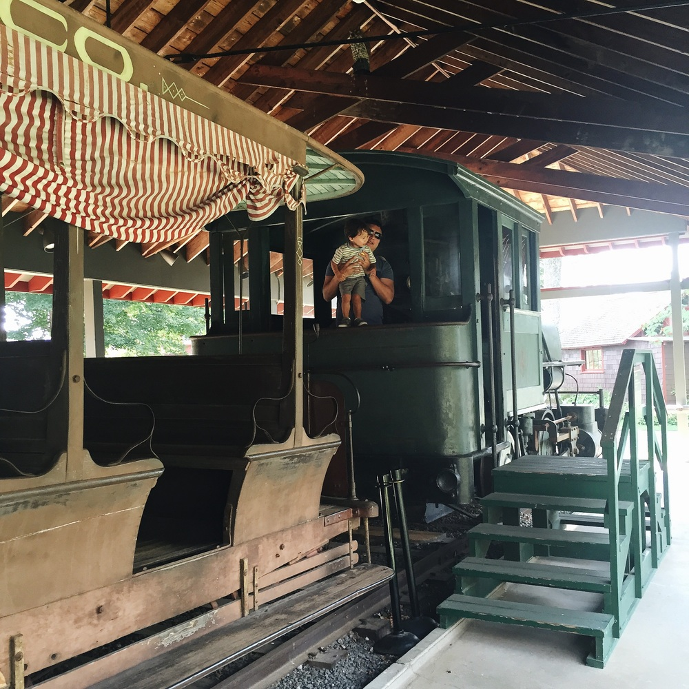 Climbing all the trains at the Adirondack Museum