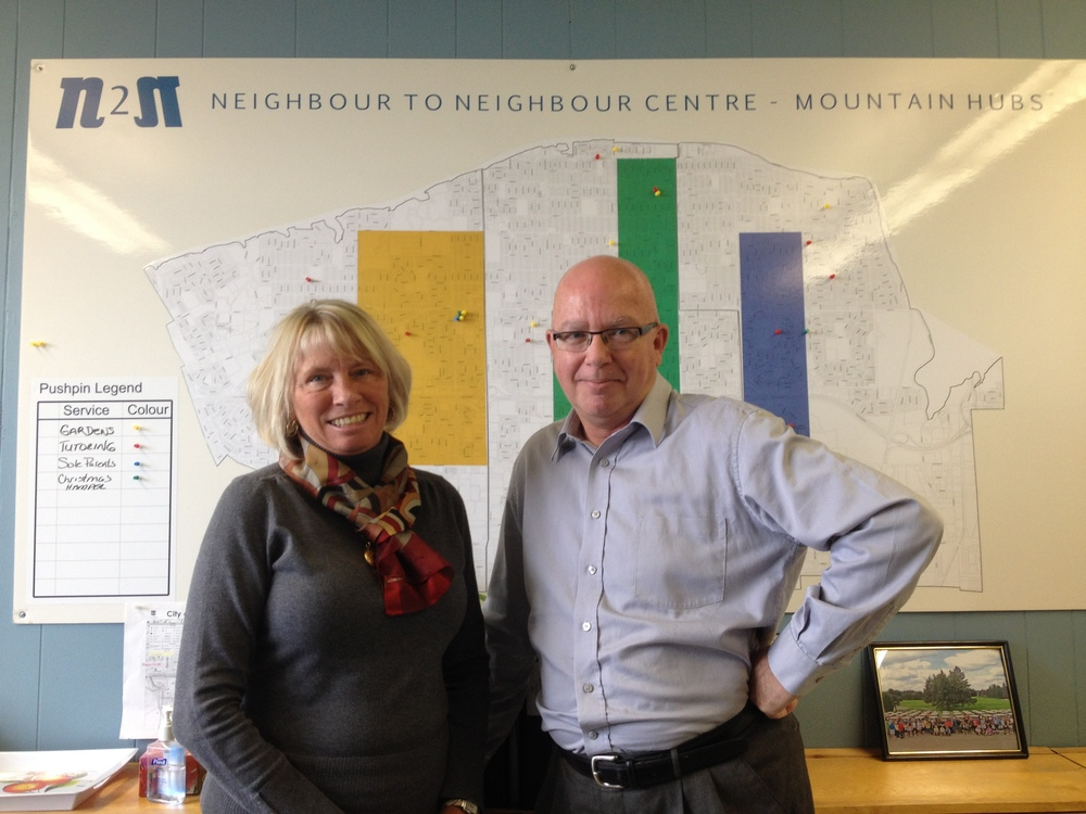 Denise Arkell and Doug Farraway, directors at   Neighbour 2 Neighbour Centre.