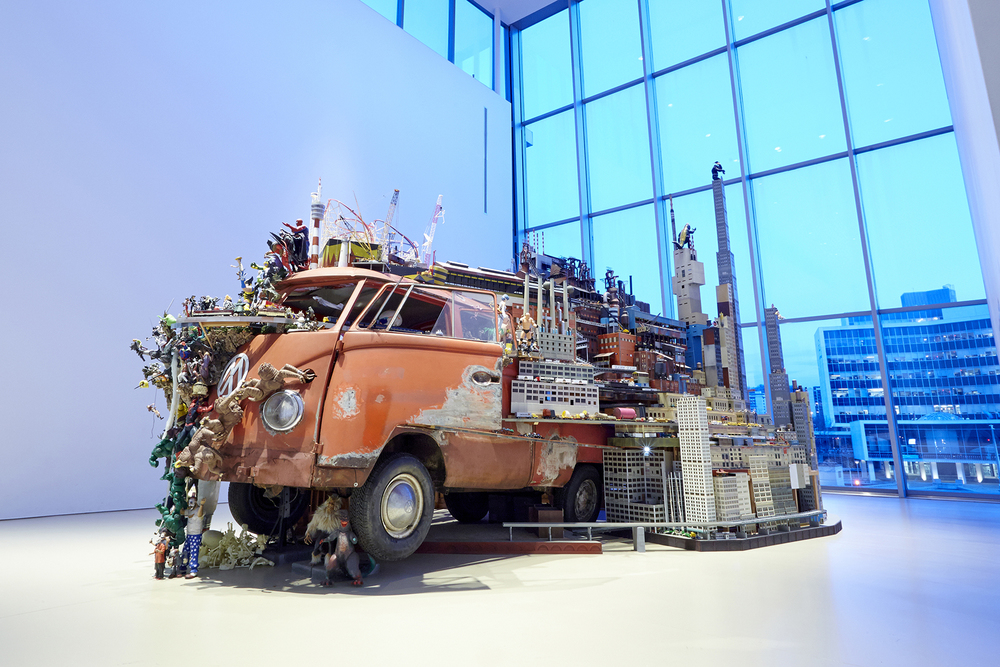 Image credit: Kim Adams (Canadian b. 1951) ; Bruegel-Bosch Bus   1996-ongoing; sculpture-installation