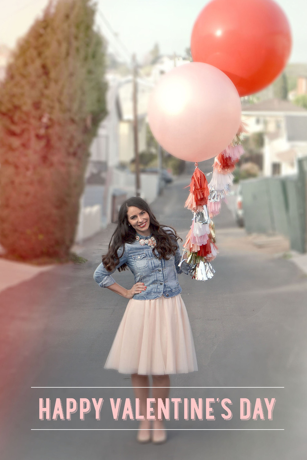 Giant Balloons with tassel garland