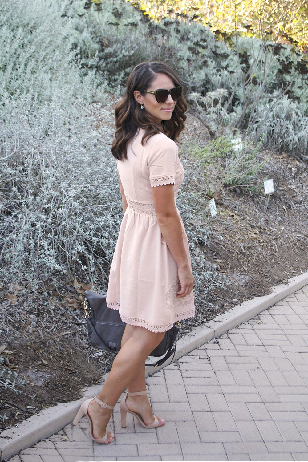 peach dress for fall