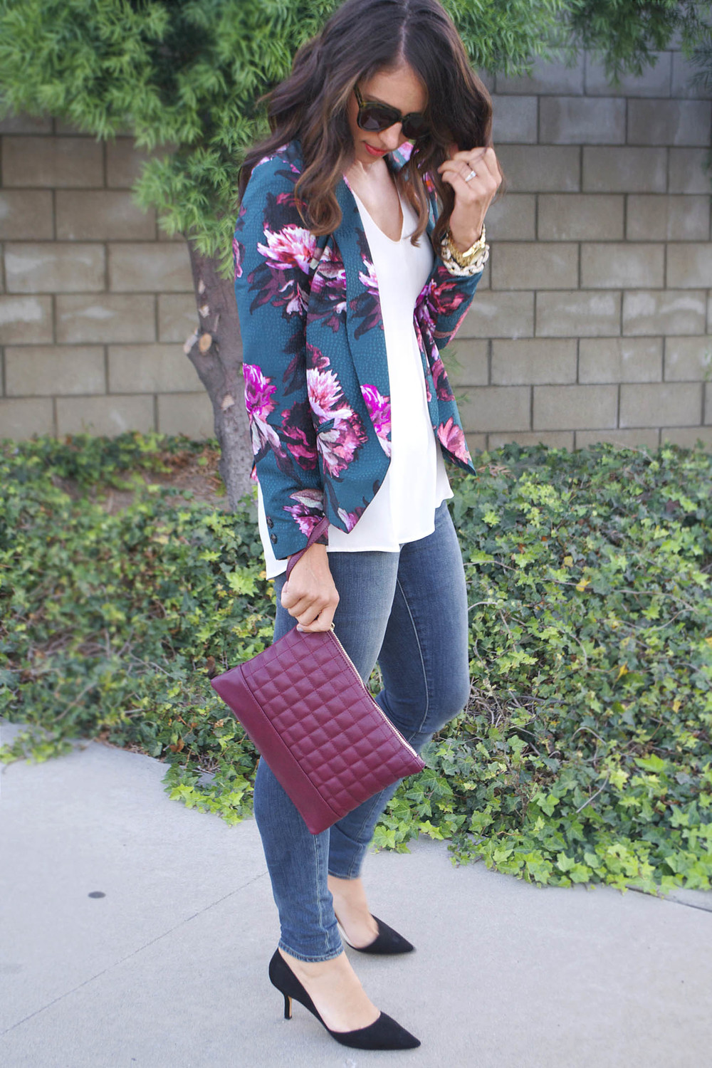 dark florals and burgundy