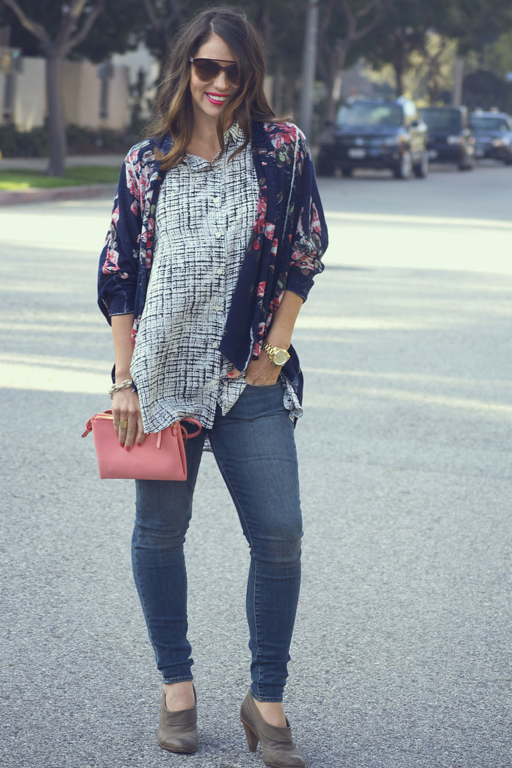 anthropologie shirt and sweater