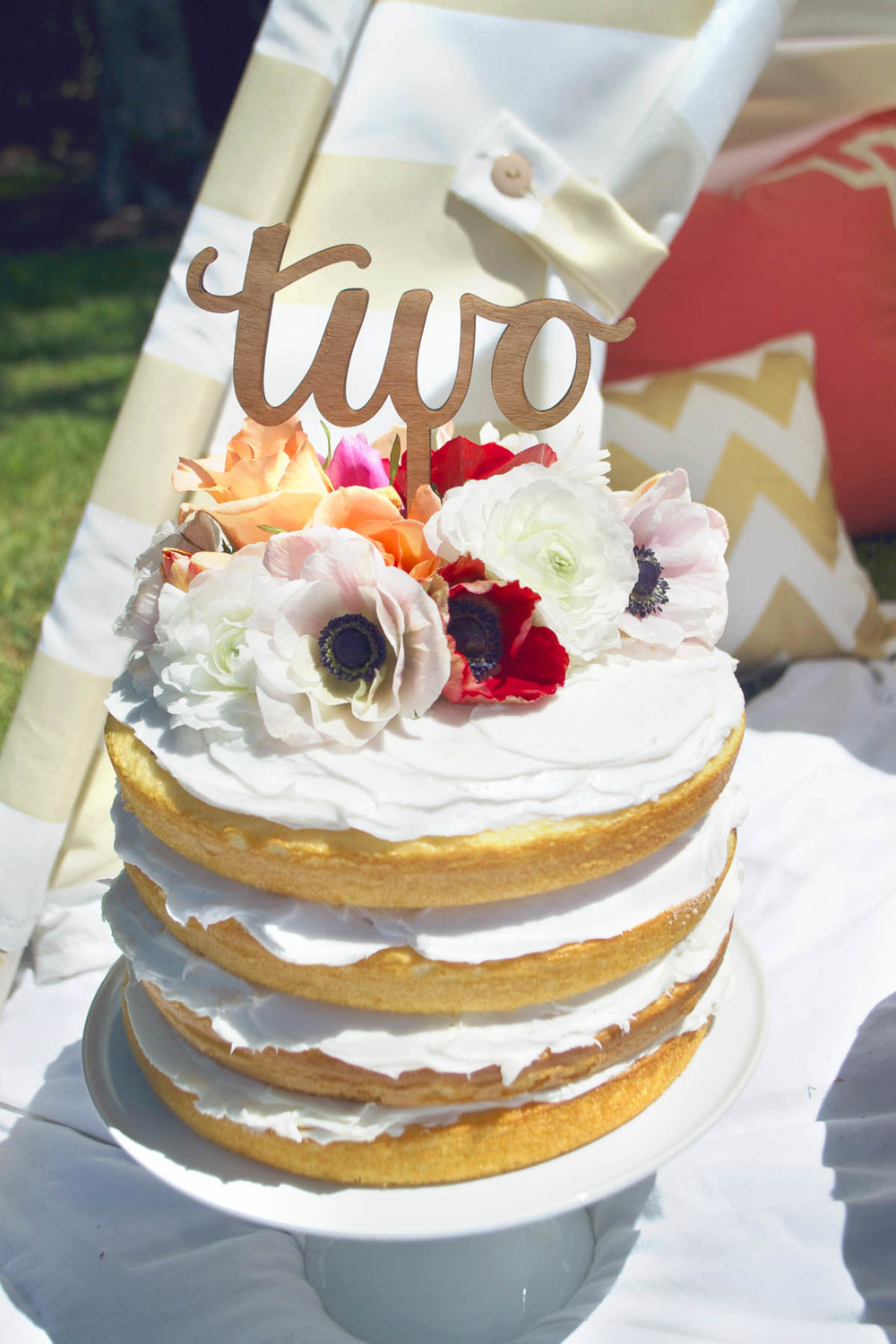 wooden two cake topper