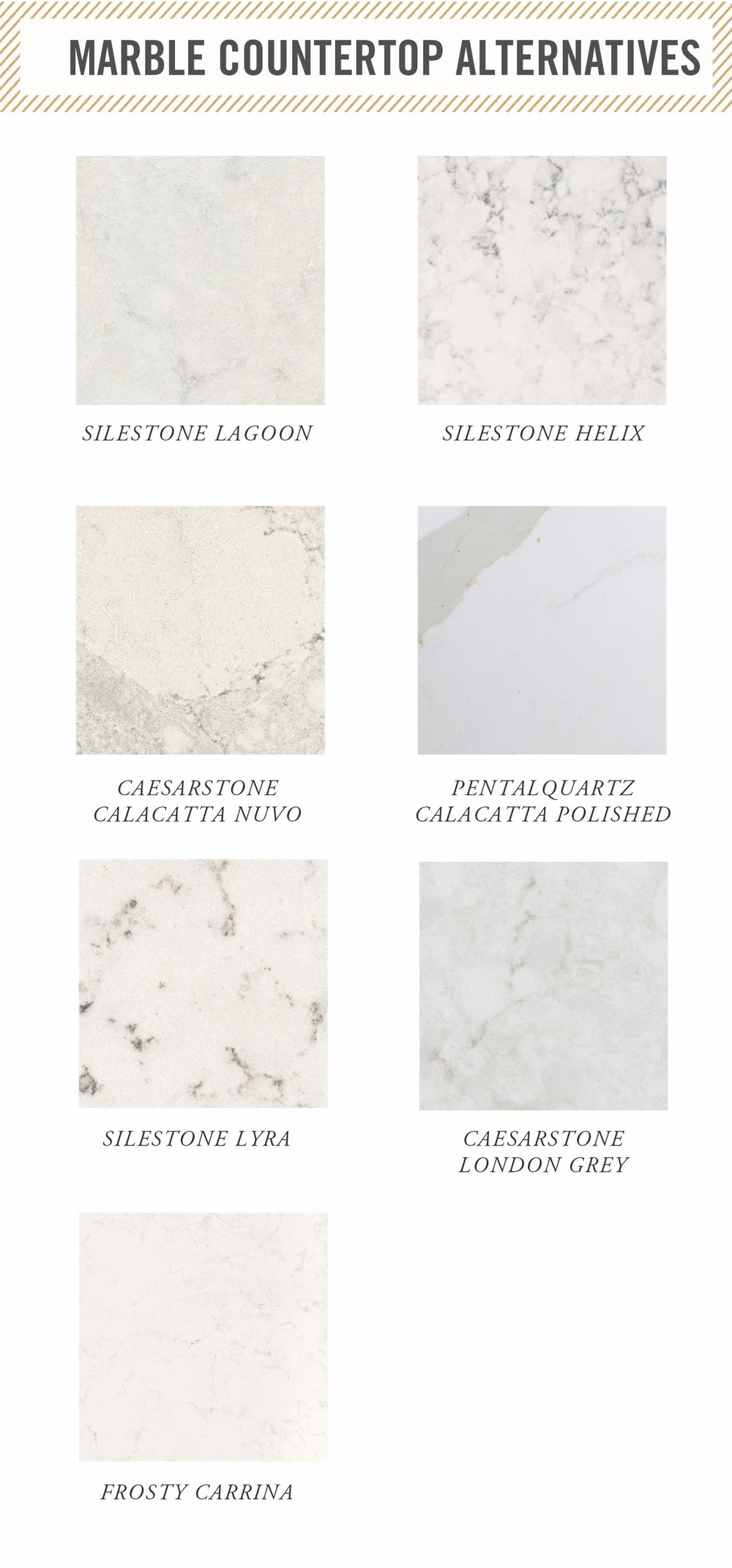 the best marble countertops alternatives