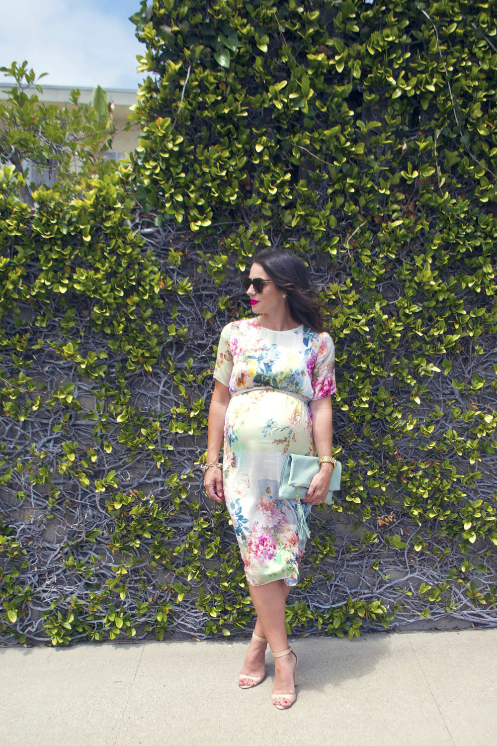 flowered maternity dress