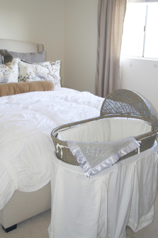 baby bassinet in bedroom