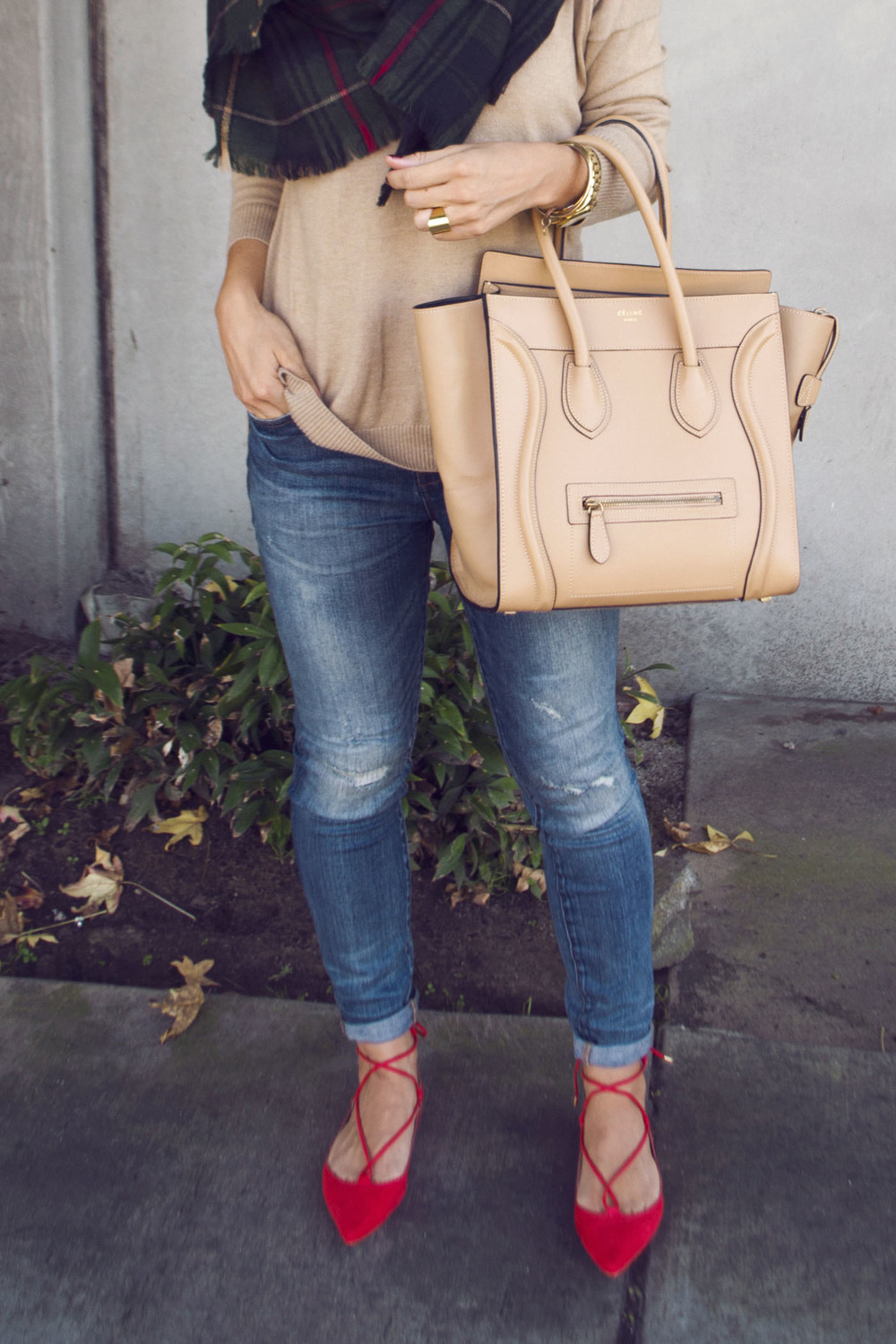 tan celine bag