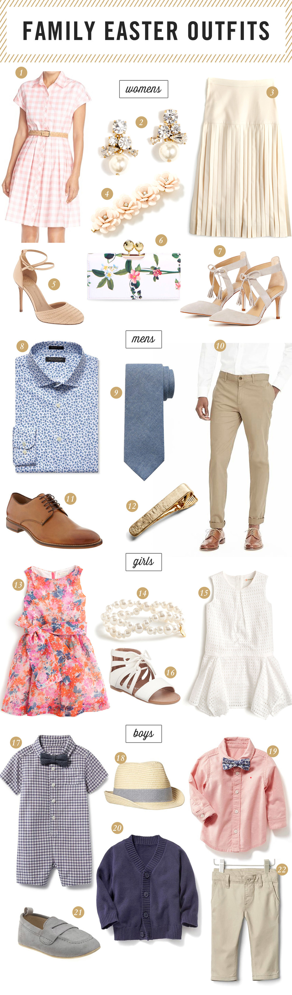 Easter Outfits for girls and men