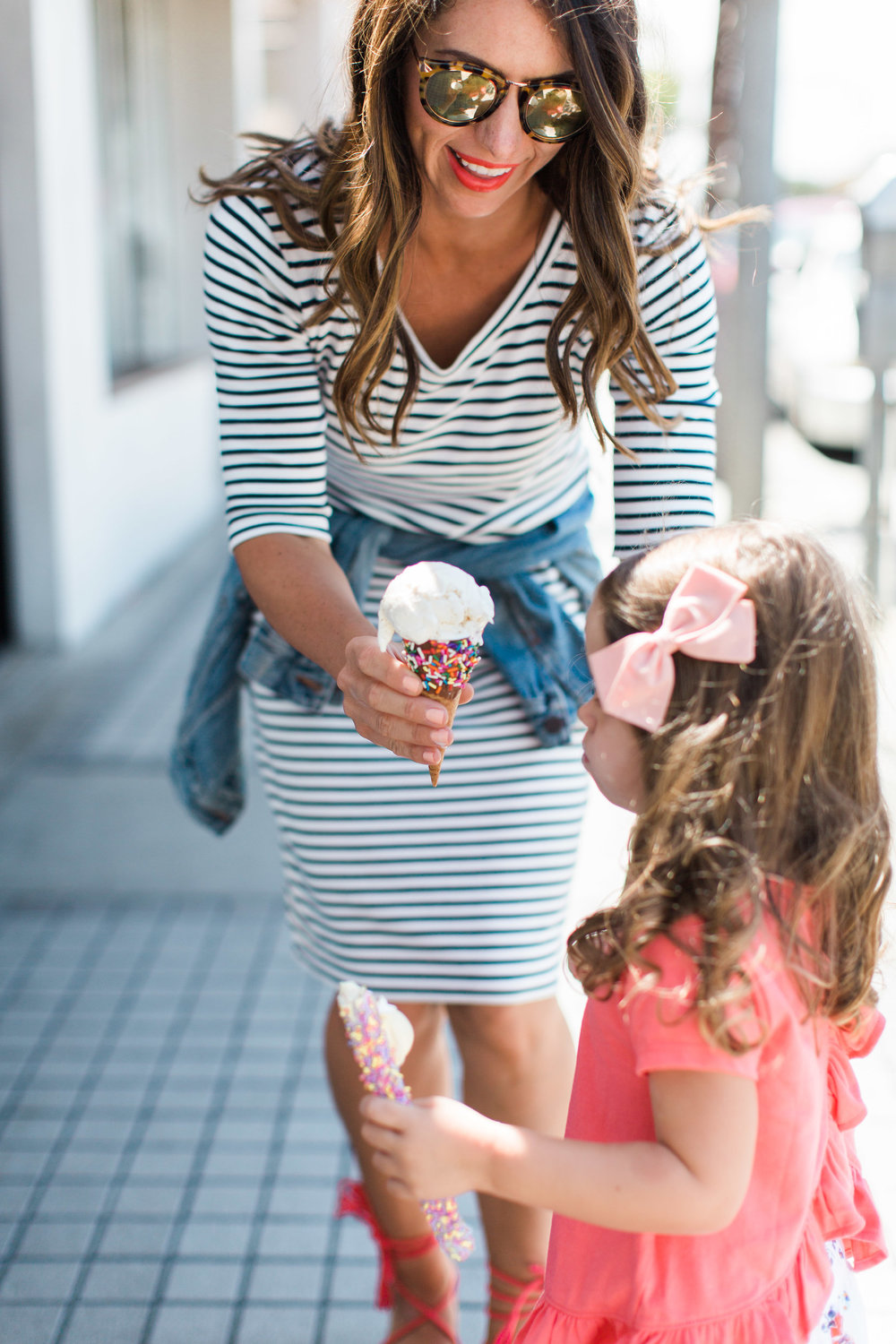 mommy and daughter ice cream date