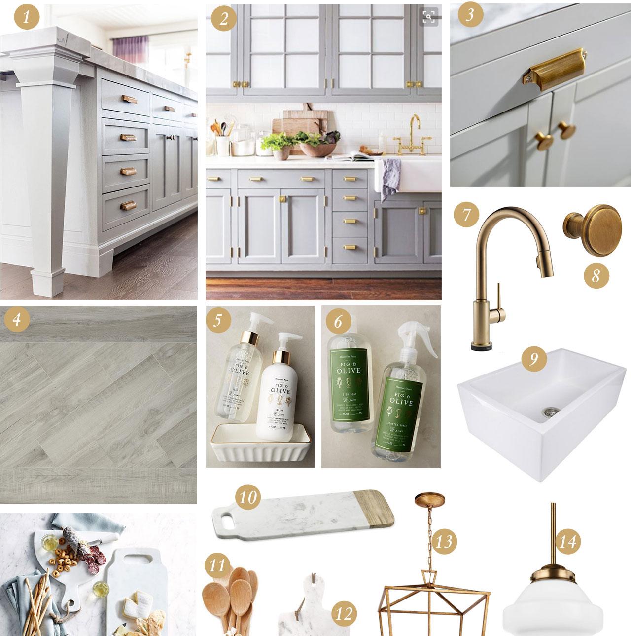 Grey U0026 Gold Kitchen Design