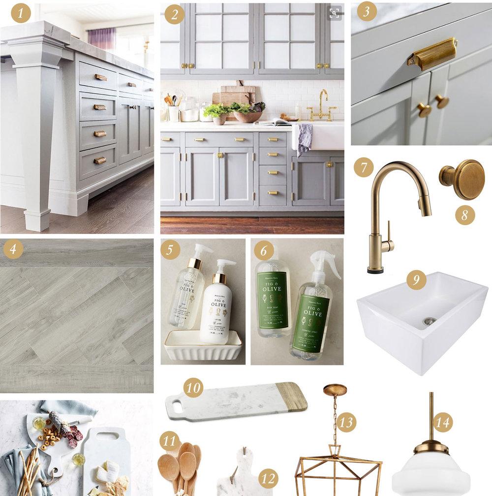 Grey & Gold Kitchen Design — West Coast Capri