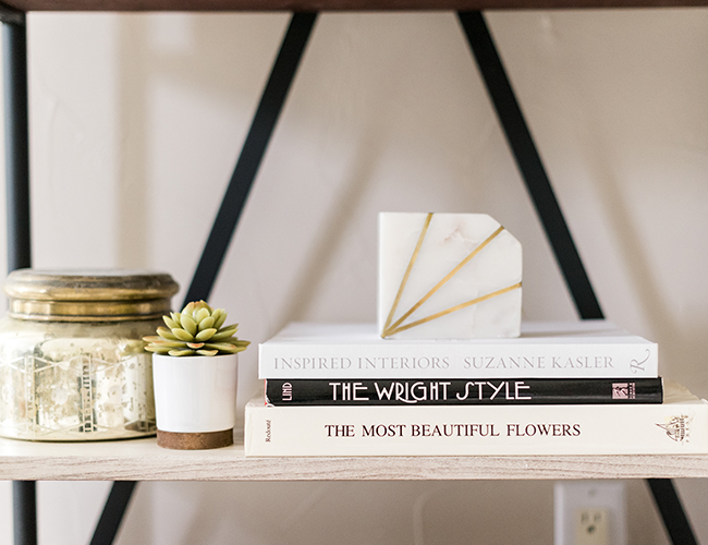 home office shelving decor