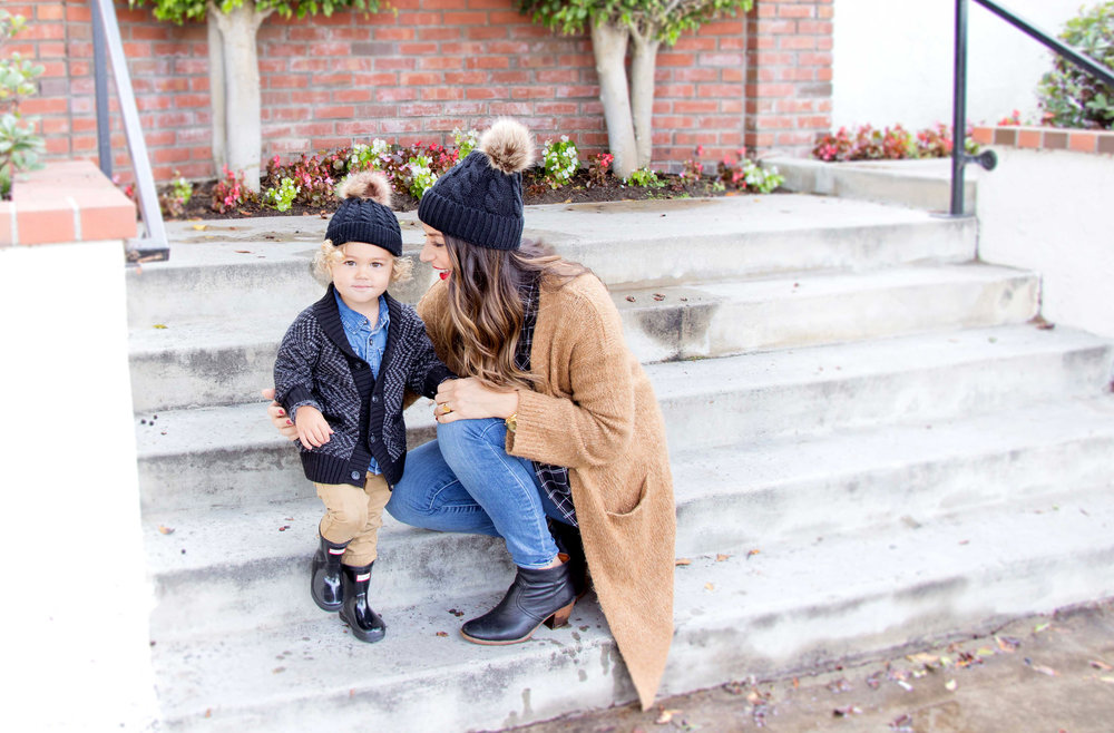 mom and toddler fall fashion