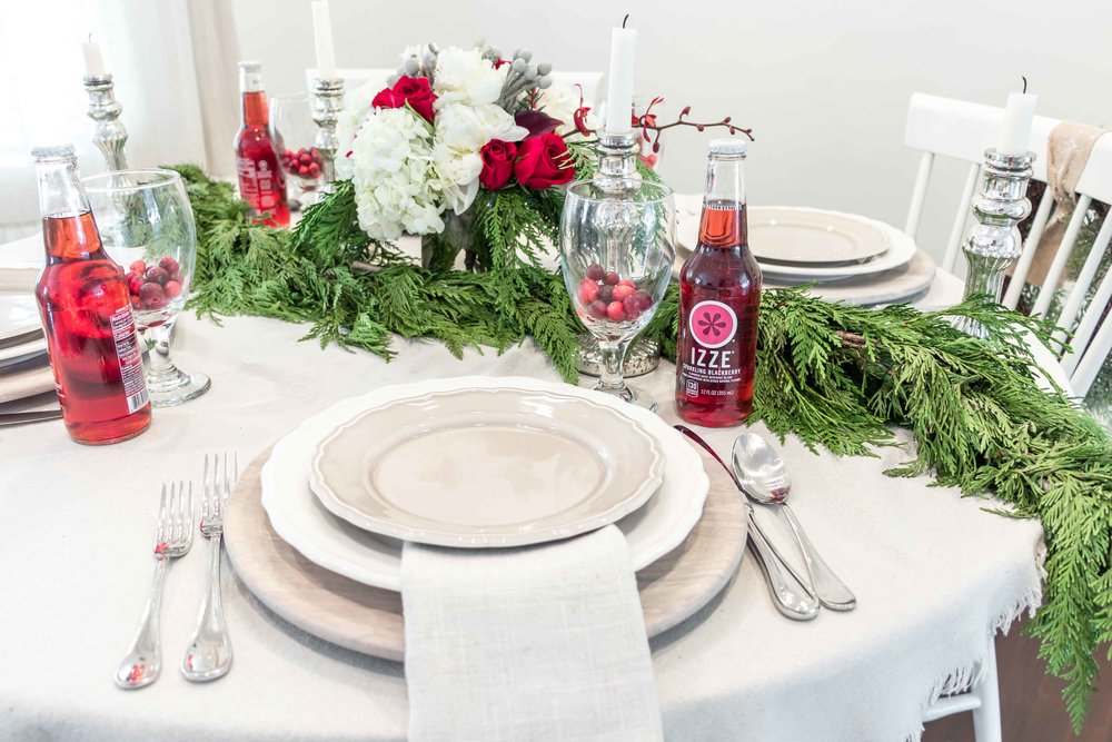 Christmas Eve Dinner Table Setting — West Coast Capri