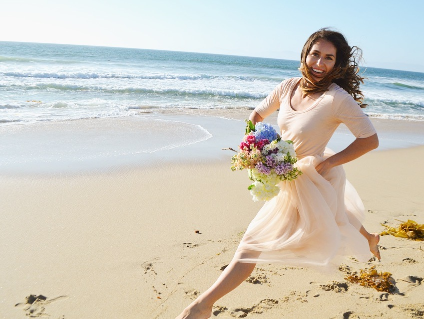 tulle skirt beach photos