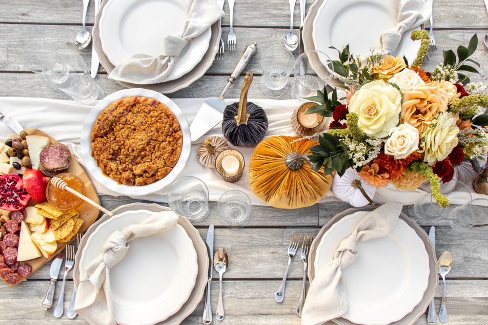 thanksgiving table decor and recipes