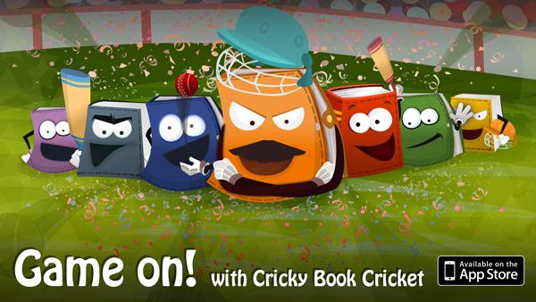 Design for Cricky - Book Cricket app