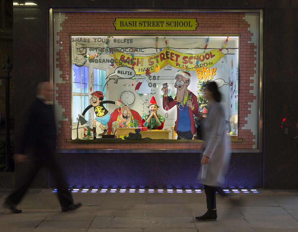 The Beano Christmas Window