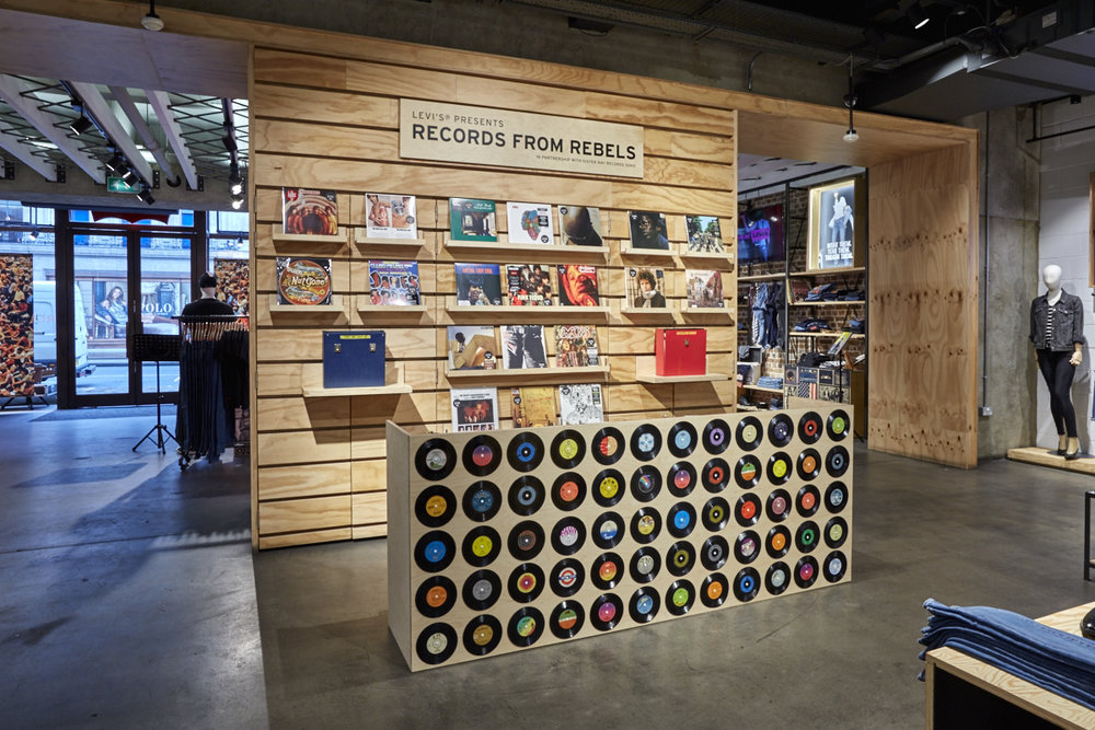 Levi's Record Store Install