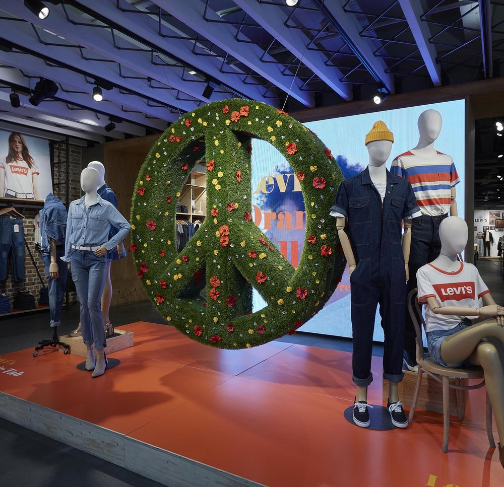 Levi's Flagship Store - Meadow Peace sign