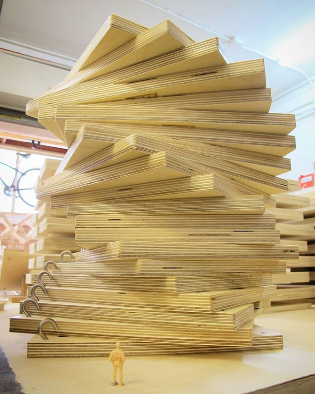 When stacked parts inspire architectural musings.  #Levi's #Levi #art #design #fabricator #fabrication #bespoke #bespokemade #vitalokr #madeontheoldkentroad #london