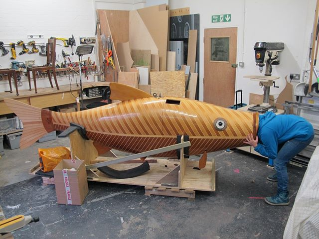 Flashback Friday - Fixing the giant fish so it can blow bubbles again! . . . . #sculpture #artwork #design #installation #fabricator #propmaking #craftspeople #designfabrication #maker #bespoke #artfabricators #modelmaking #modelmakers #manufacturing #art