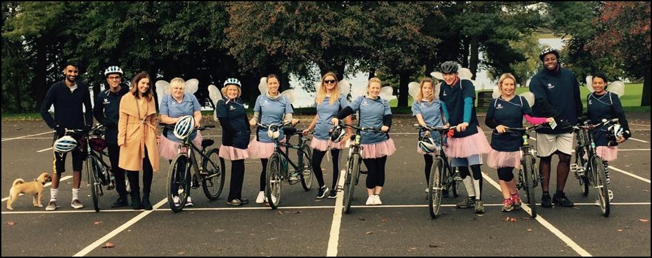 Beeston Dental Practice ready for the 40k Tandem Bike Ride Challange