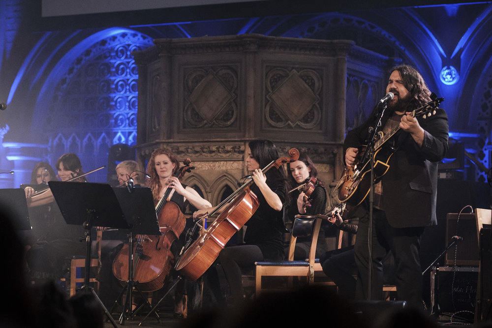 @themagicnumbers with @dirtyprettystrings - performed at the #unionchapel for @theflyingseagulluk