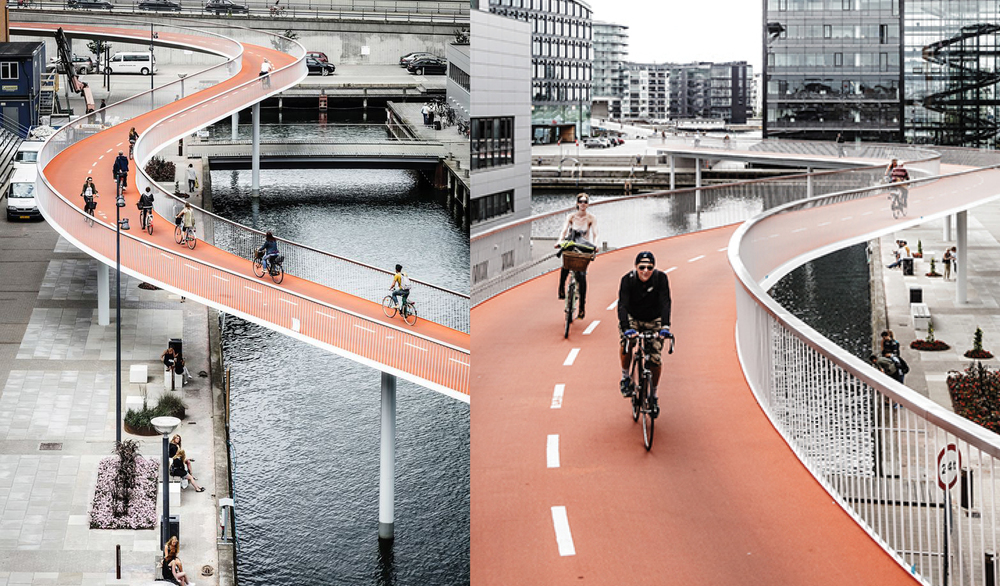 Cykelslangen or Cycle Snake: an elevated cyclist roadway to ease congestion. Image courtesy: DISSING+WEITLING