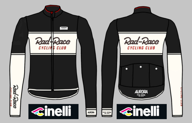 The new RAD RACE x AURORA winter jersey. Made by Cinelli in Italy. Pre-Order now in our WEBSHOP.