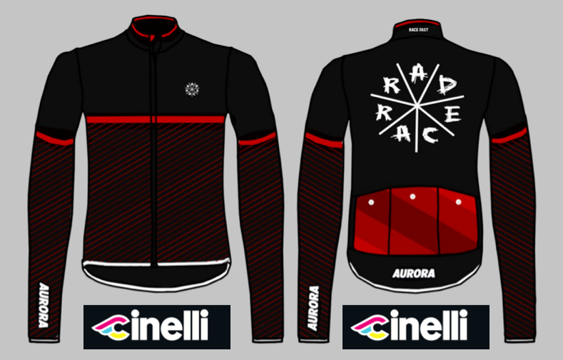 The RAD RACE x AURORA Winter Jersey, made by Cinelli in Italy. Ready to Pre-Order!!