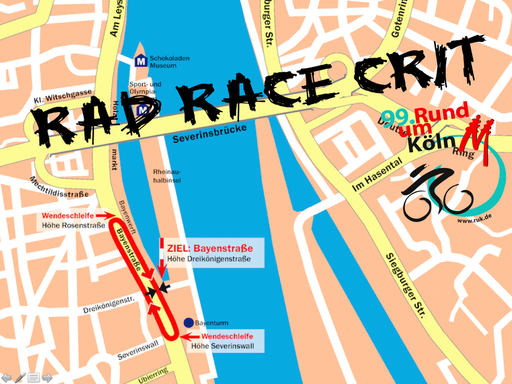 RAD RACE CRIT Streckenplan 2015